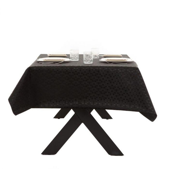 Zwart tafelzeil