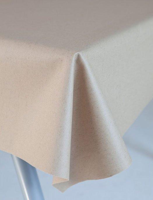 Gecoat tafellinnen Lino Crudo 180cm