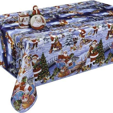 Kerst Tafelzeil Kerstman Sneeuw