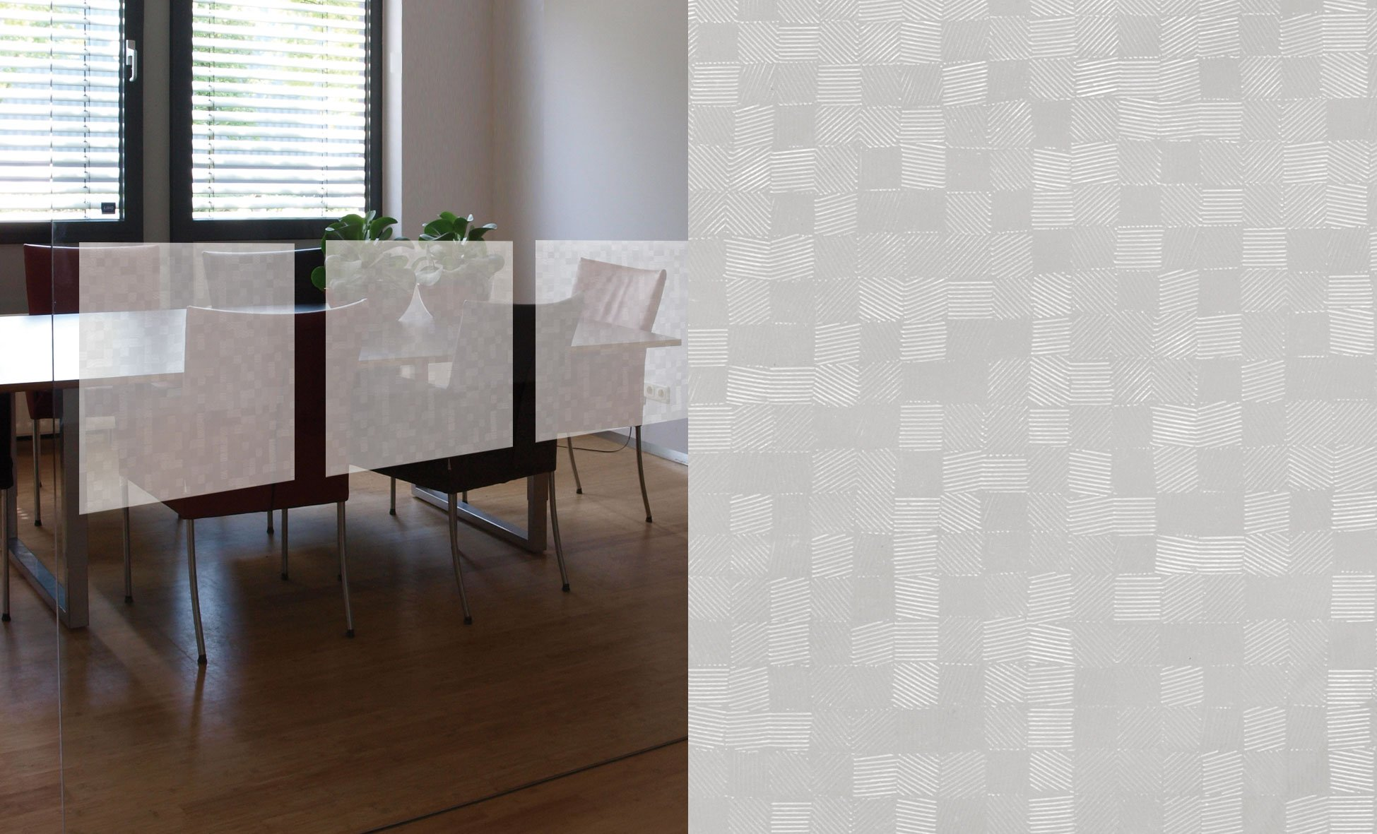Statisch Raamfolie Blocks - 45cm x 15m