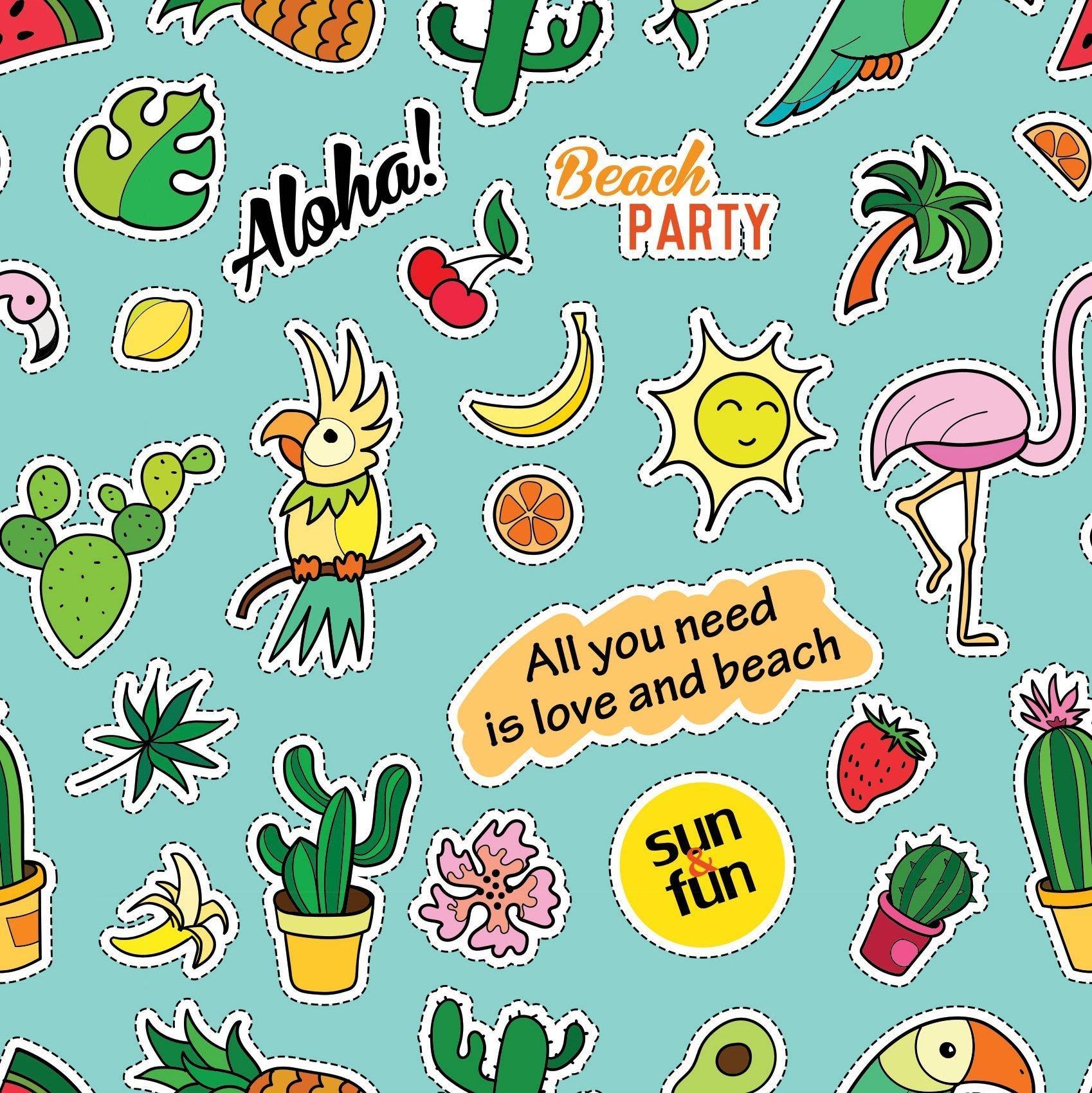 Plakfolie Beach Party 6510 - 45cm x 2m