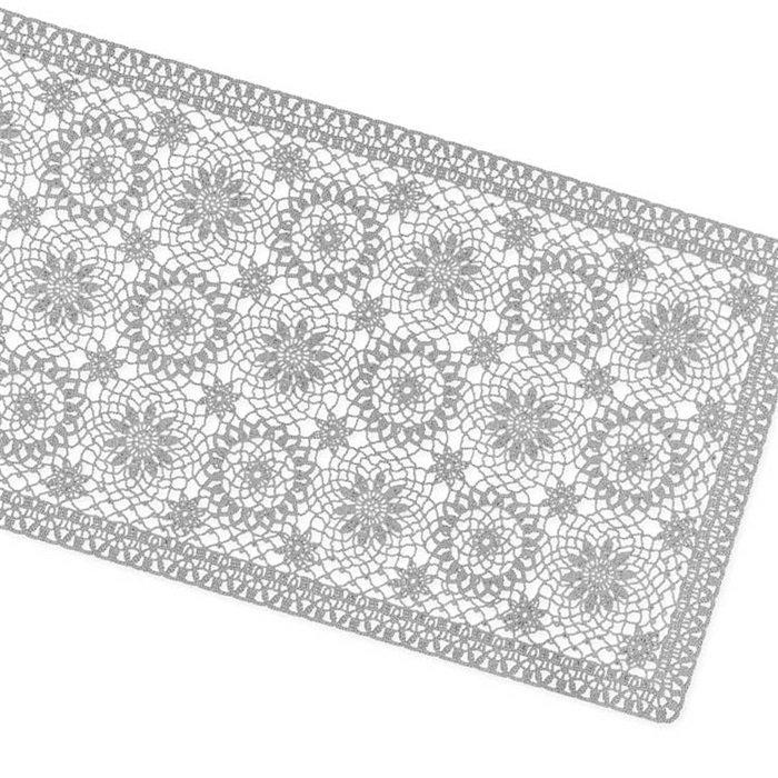 Tafelloper Amira vinyl 40x150cm grijs