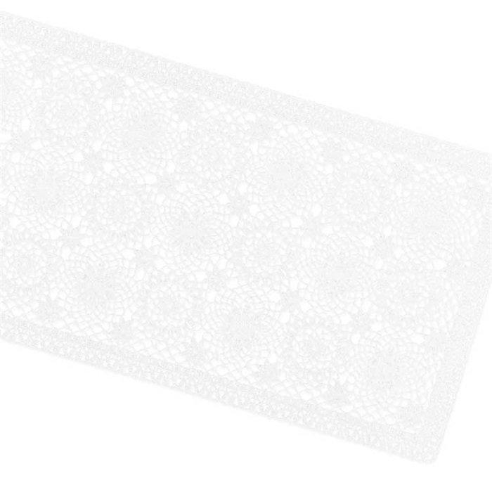 Tafelloper Amira vinyl 40x150cm white