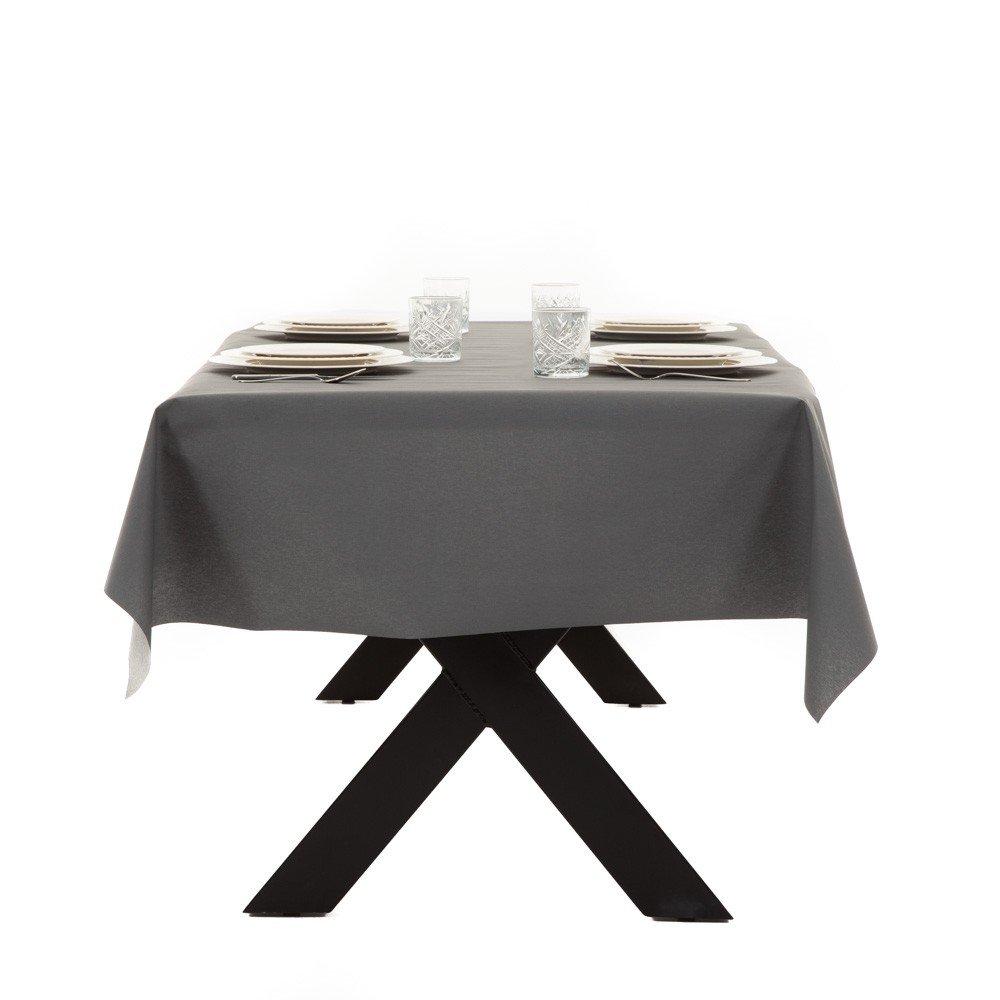 Gecoat tafellinnen Lino Gris Piedra - 140cm