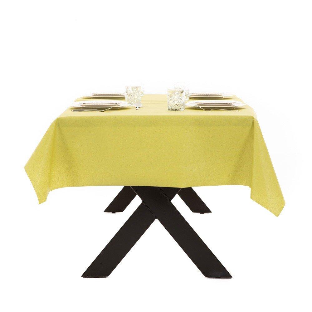 Gecoat tafellinnen Lino Pistacho