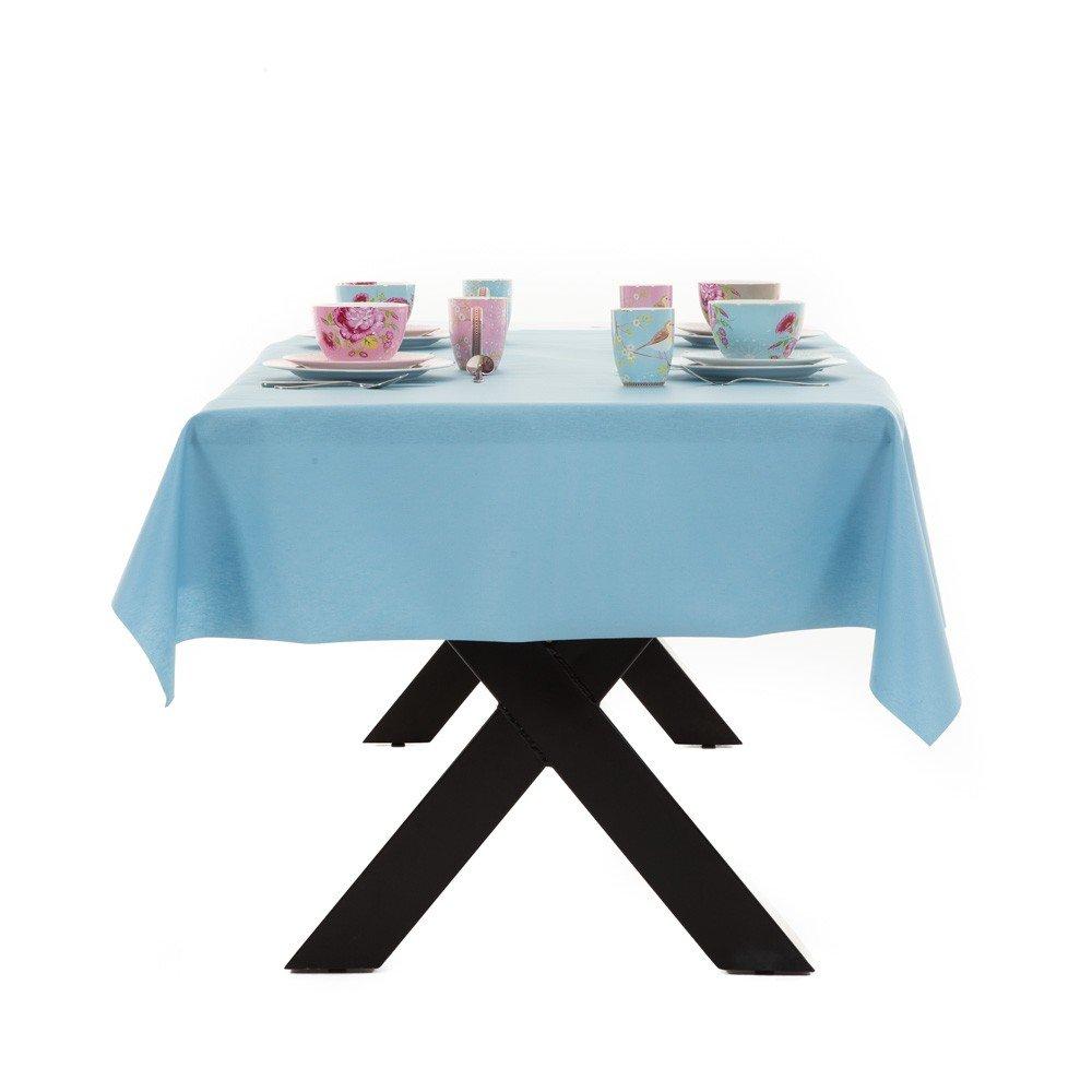 Gecoat tafellinnen Lino Celeste