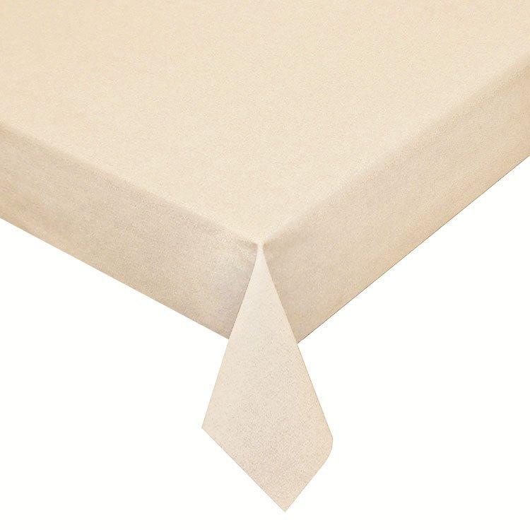 Gecoat tafellinnen Effen Beige 180cm