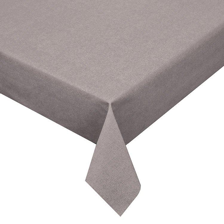 Gecoat tafellinnen Effen Grijs 180cm