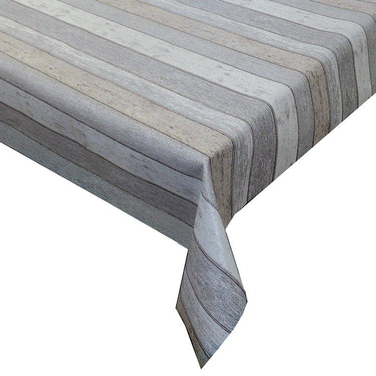 Gecoat tafellinnen Elyse Wood Light Brown/Grey