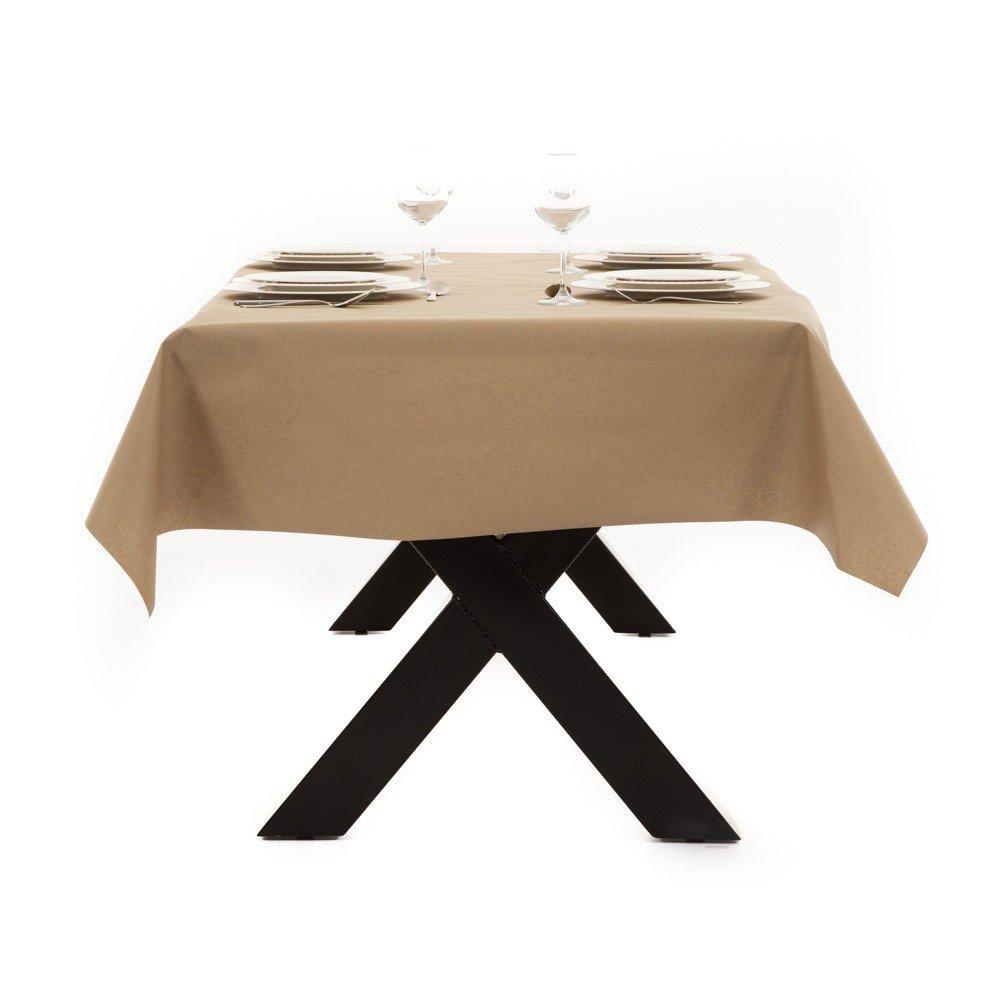 Gecoat tafellinnen Lino Beige