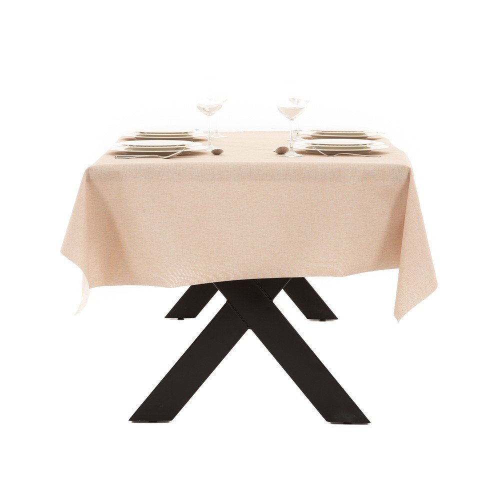 Gecoat tafellinnen Lino Nature 140cm
