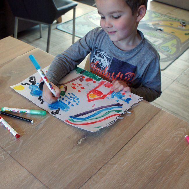 Kinderknutselmat Transparant-35x45cm