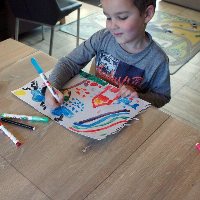 Kinderknutselmat Transparant-80x100cm