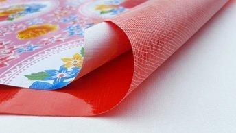 PVC met draadjestextiel ruug
